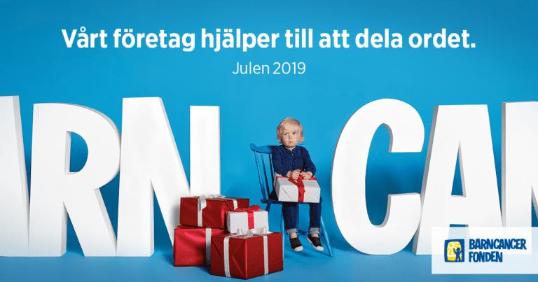 Vi stödjer barncancerfonden julen 2019